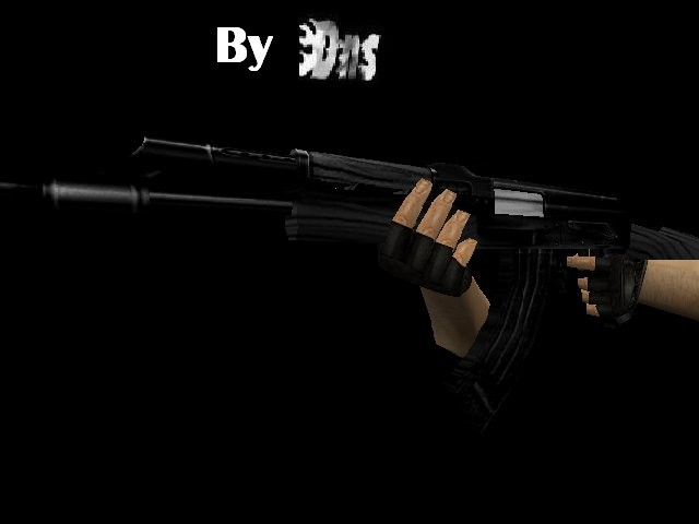 Dark Black Ak47