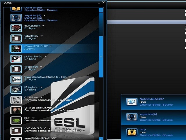 скачать ESL Steam Skin By getdown/weps бесплатно