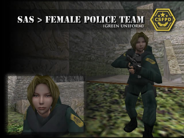 SAS > Female Police (Green Uniform)