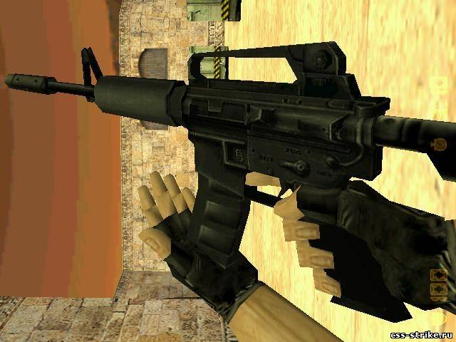 M4a1 centered way retexture Black Opticals.