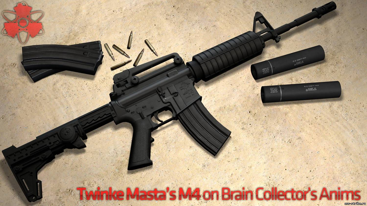 скачать Twinke Masta's M4 on Brain Collector's Anims бесплатно
